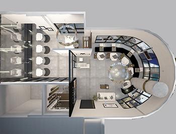 The Mimarlo Beauty Salon ... comprises four zones.