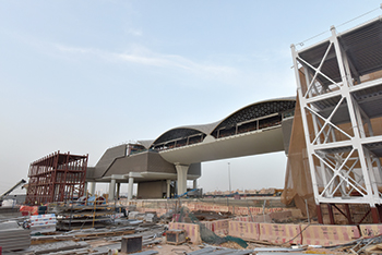 Al Sharq has carried out various steel fabrication works for the metro such as the canopy structures