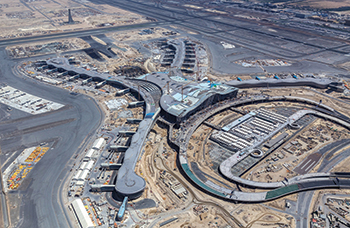 Midfield Terminal in Abu Dhabi ... targeted for completion next year.