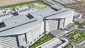 The medical city will have 300 beds, 15 operating rooms and clinical research centres.
