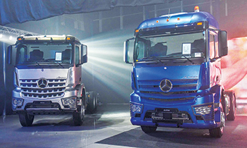 The all-new Actros trucks were launched at Al Haddad Motors in April.
