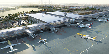 The new terminal at Bahrain International Airport ... a $1.1-billion expansion.