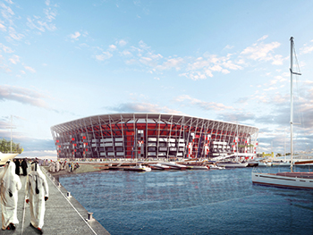 Ras Abu Aboud stadium ... modular design.