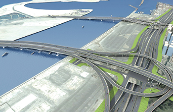 The 12-lane bridge connecting Deira Islands with the Dubai mainland ... work in progress and scheduled for completion in Q2 2020.