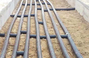 Durapipe's PLX ... specialist fuel conveyance pipework system specified at Bahrain International Airport.