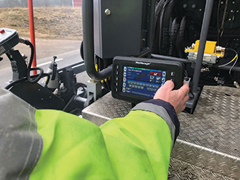 Optimising workflow ... the system uses a range of different input sensors mounted on the asphalt paver to measure and calculate key paving parameters.