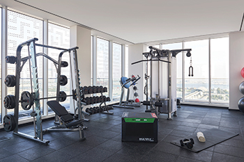The rooftop gym with Life Fitness equipment ... well-being is at the core of Form's DNA.