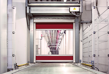 The V3009 roller door from Hormann ... specifically designed for conveyor systems.