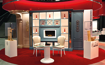 The wall panelling solution ... reinterprets classic style.