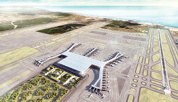 The third airport in Istanbul ... to serve 150 million passengers by 2023