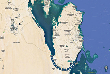 Location of Salwa Canal, expected to be 60 km long.