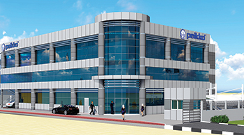 Peikko Gulf's new factory in Ras  Al Khaimah will cover 11,500 sq m.