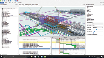 Synchro screenshot ... 4D model of an airport construction project.