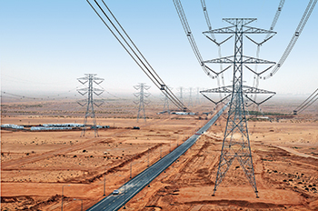 A 380-kV transmission line in Riyadh ... L&T is involved in various power projects in Saudi Arabia for SEC and Saudi Aramco.