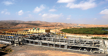 The Al Ansab sewage treatment plant in Muscat ... a key expansion project by Haya Water which will boost capacity by 67,700 cu m per day.