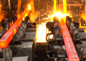 Jindal produces square and round billets at its steel melt shop commissioned in 2014.