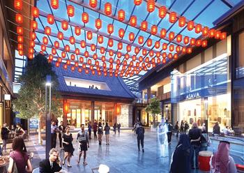 Chinatown ... set to take shape within Dubai Creek Harbour.