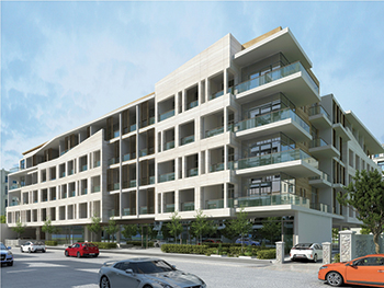 Samana Greens ... 131 units of studio to two-bedroom residential apartments.
