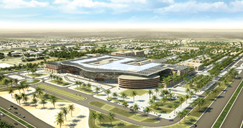 A rendition of the New Al Ain Hospital.