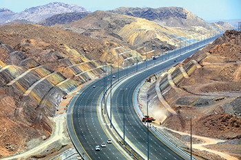 The Batinah Expressway in Oman by L&T ... currently under way.