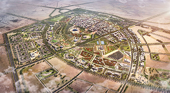 Souq Okaz City will have a suburb with housing for 750,000 people.