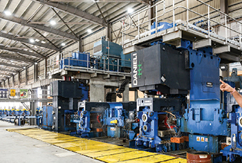 Jindal's rolling mill in Oman ... maximum rolling speed of 45 m/sec for 8 mm bars.