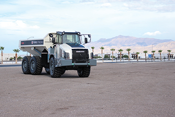 The Terex TA300 articulated hauler ... improved fuel efficiency and operator comfort.