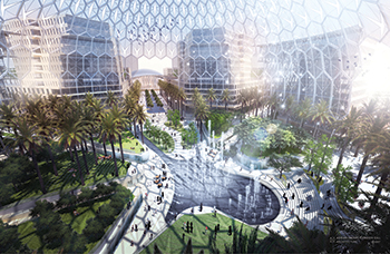 The central Al Wasl Plaza of Expo 2020 ... a European consortium to build the German Pavilion.