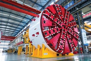 An earth pressure balanced TBM ... set to arrive in Dubai in October.