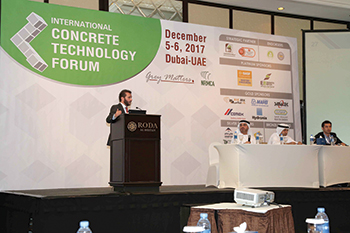 A speaker at last year's Construction Technology Forum.