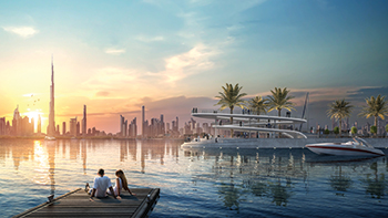 Creek Marina at Creek Island Dubai ... 81 berths for yachts and superyachts.