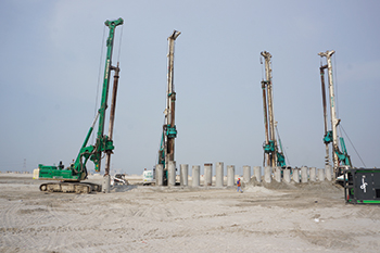 Enabling works under way at Pixel by Dutch Foundation ... 938 secant piles to be installed.