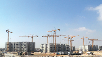 NFT placed 60 tower cranes on a housing project for Adnoc in Abu Dhabi in 2011.