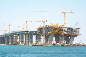 NFT worked on the bridge that connects Saadiyat Island to the capital.