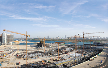 This year, NFT has provided 14 tower cranes for the construction of Reem Mall.