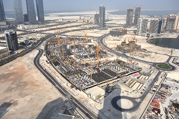 Reem Mall ... a lifestyle destination taking shape in Najmat District on Reem Island.