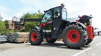 The new TL43.80HF telehandler ...  4.3-tonne lift capacity and 8 m lift height.