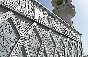 Sheikh Aziz mosque ... balancing tradition and modernity using Corian surfaces.