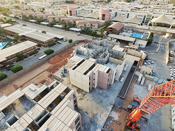 A residential project in Riyadh executed by Rabiah & Nassar E&C.