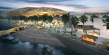 The Arena at Yas Bay project by Miral ... an upcoming iconic waterfront destination.