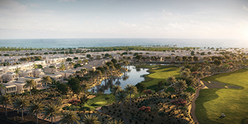 The masterplan of The Cedars at Yas Acres.