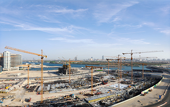 NFT has supplied 15 cranes for the Reem Mall project.