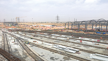 A Riyadh Metro work site ... ADA has awarded two O&M contracts for all the six lines.