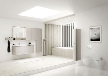Acanto provides fully customisable options to help create the kind of bathroom that suits the user's lifestyle.