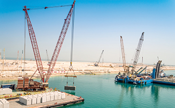 Khalifa Port ... the expansion will add 1,000 m of quay wall and deepen its main channel and basin.