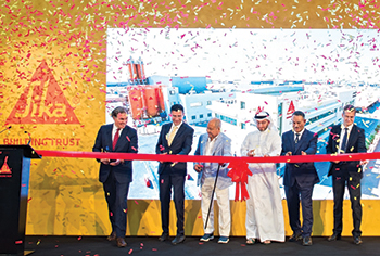 Sika officials at the opening of the new production facility in Dubai.