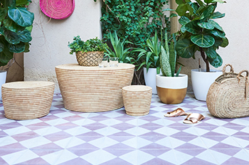 Handcrafted cement tiles from Mosaico.