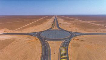 The Oman-Saudi Highway ...  680-km long.