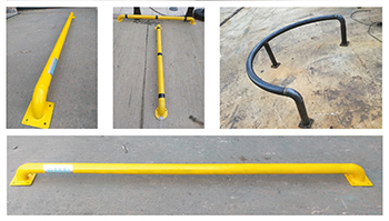 Parking stop bars for car-parking areas and fuel stations ... by Paras.
