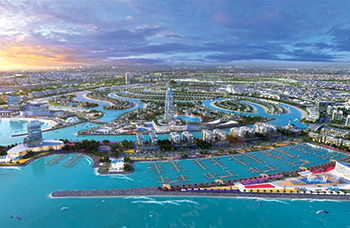 The $6.8 billion Sharjah Waterfront City ... $816 million worth of infrastructure development works completed.
